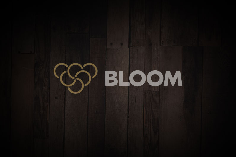 Bloom on wood background